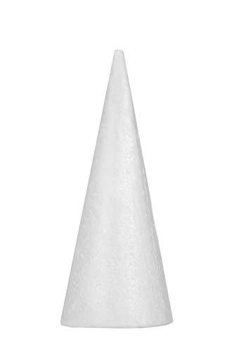 ZADAWERK® Styroporkegel - 25 cm - 4 Stück - Figuren basteln - XXL Set - Deko