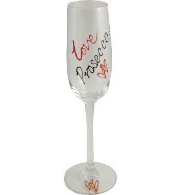 Dreamair Amour Prosecco Flûte à Champagne (Rouge/Noir)