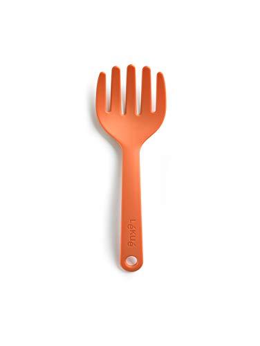 Lékué Tenedor para Pasta, Nylon, Naranja, 22 x 7 cm
