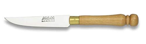 17407 Couteau de Cuisine monteur Mam, Virole en Laiton, Manche en Bois, Lame en Acier Inoxydable de 8,8 cm