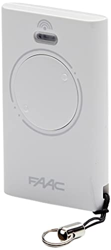 Faac 787007 XT2 433 SLH Automazione cancello telecomando trasmittente 2 canali, 433 mhz, Bianco