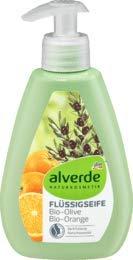 alverde NATURKOSMETIK Flüssigseife Olive-Orange, 1 x 300 ml
