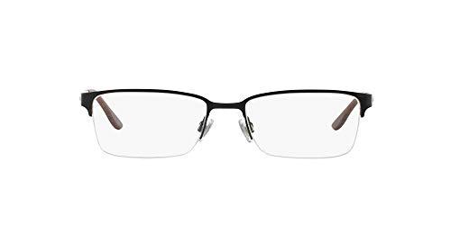 Ralph Lauren Men's RL5089 Rectangular Prescription Eyewear Frames, Black/Demo Lens, 54 mm
