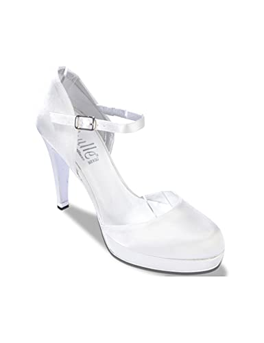 Melluso TH453N - Donna - ThulleChanel, Pc.Raso Thulle Bianco Sposa, 39