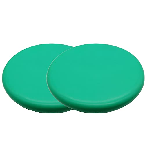 (APOSITV)フライングディスク ソフト スポーツディスク シンプルカラー 軽量 柔らかい 安全 アウトドア (グリーン2個)