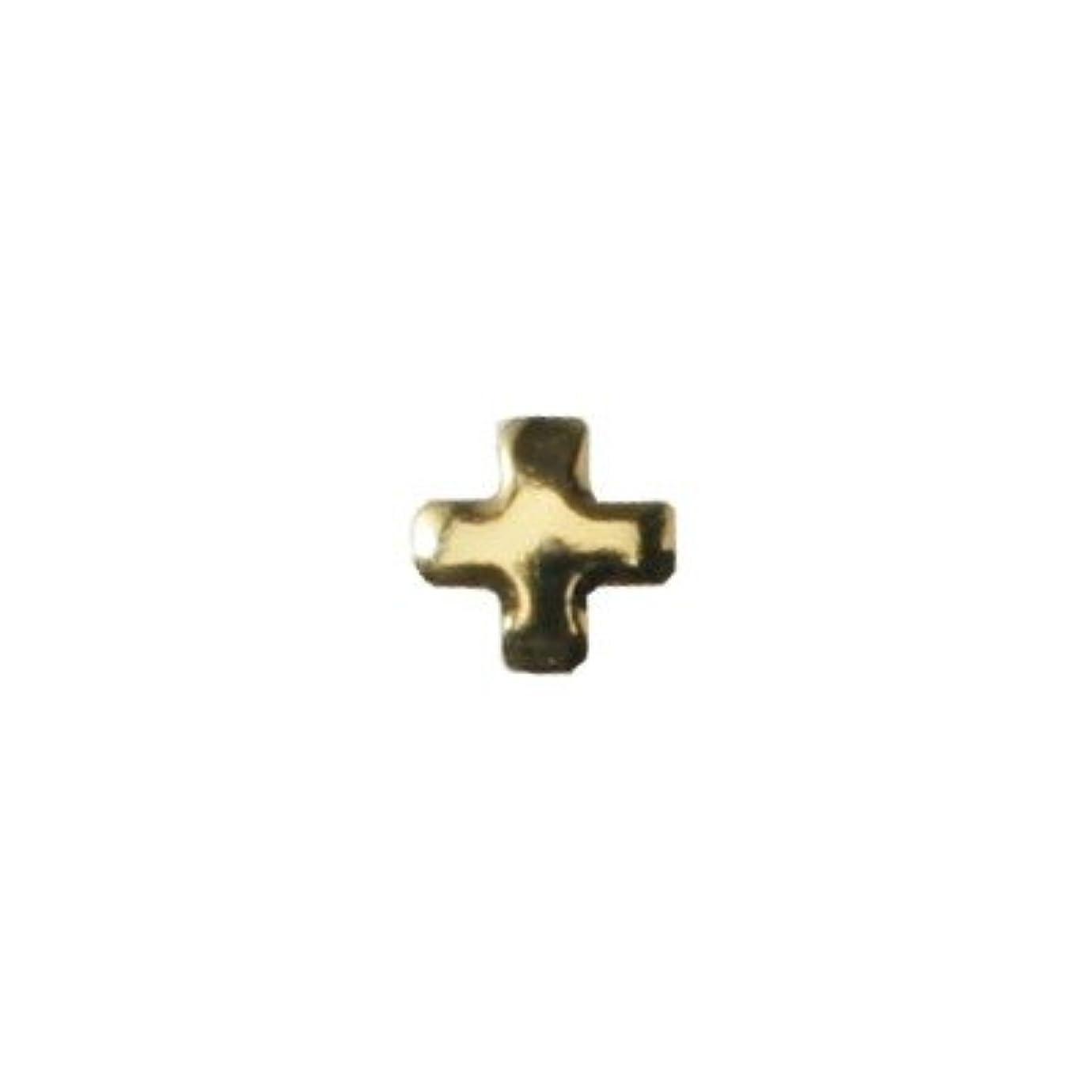 外交原油入り口ピアドラ スタッズ クロスレット 3mm 50P ゴールド