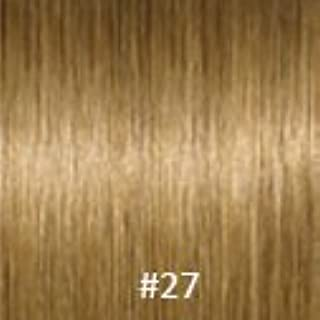 Virgin V-Tip Eurasian Peruvian Curly Hair,#27 Strawberry Blonde,18 Inch