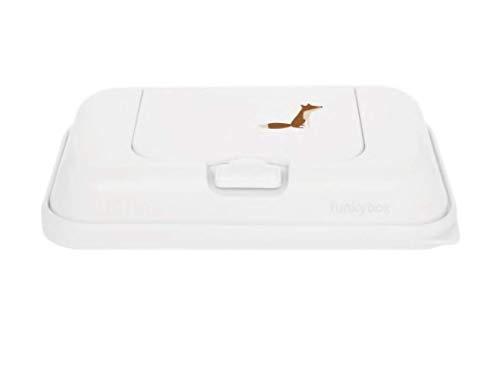 Funky Box Menta Hojas - Estuches y dispensadores para toallitas, niñas, Blanco