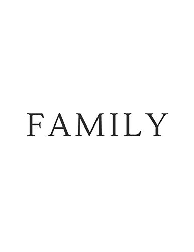 Family: A Decorative Book | Perfect for Coffee Tables, Bookshelves, Interior Design & Home Staging (Family Book Set - White, Band 5)