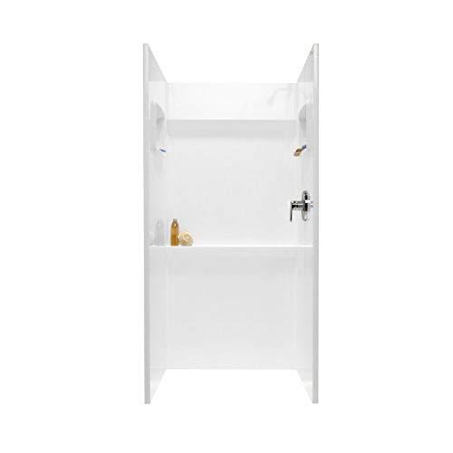 shower wall materials Swanstone SA-3636-010 Veritek Glue-Up 3-Panel Shower Wall Kit, 36-in L X 36-in H X 72-in H, White