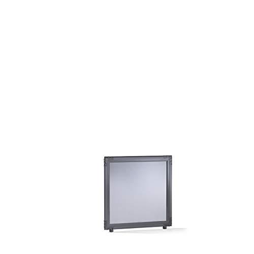 Cloison - verre acrylique fumé - h x l 650 x 650 mm, cadre gris ardoise - Dispositif de délimitation Paroi de séparation Parois de séparation Séparation Cloison Cloison de séparation Cloison industrielle Cloison insonorisante Cloisons Cloisons de