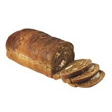 European Bakers Thick Sliced Seeded Marble Rye, 5/8 inch -- 8 per case.