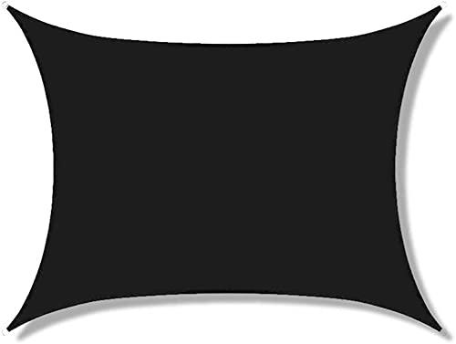 SYGoodBUY Toldo rectangular impermeable con 98% de bloqueo UV, para patio de jardín al aire libre, con accesorios de montaje (color opcional) (color: negro, tamaño: 5 x 6 (5 x 6 m)