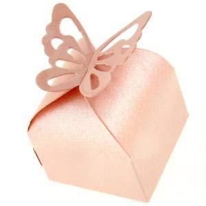 Accessotech 50 Pieces Wedding Favour Boxes Bridal Showers Parties Gift Bags...