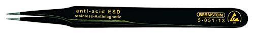 Bernstein Werkzeug GmbH 5-051-13 SMD-Pinzette, 120 mm, gerade-spitz, mit ESD-Beschichtung