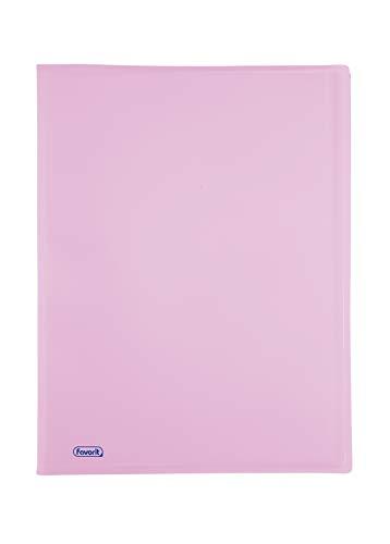 Favorit 400116627 Portalistino P@STEL con 60 Buste Lisce, Formato Interno 22x30 cm, colore glicine pastello