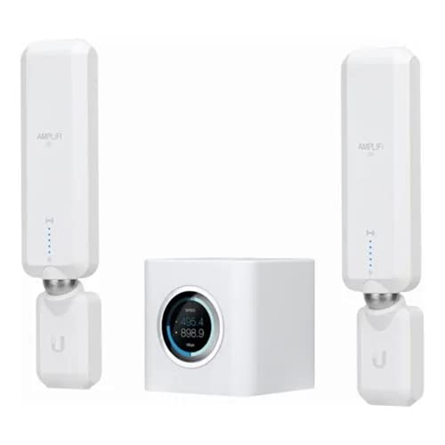 AmpliFi HD WiFi System by Ubiquiti Labs, Seamless Whole Home Wireless Internet Coverage, HD WiFi Router, 2 Mesh Points, 4 Gigabit Ethernet, 1 WAN Port, Ethernet Cable, Replaces Router & WiFi Extenders