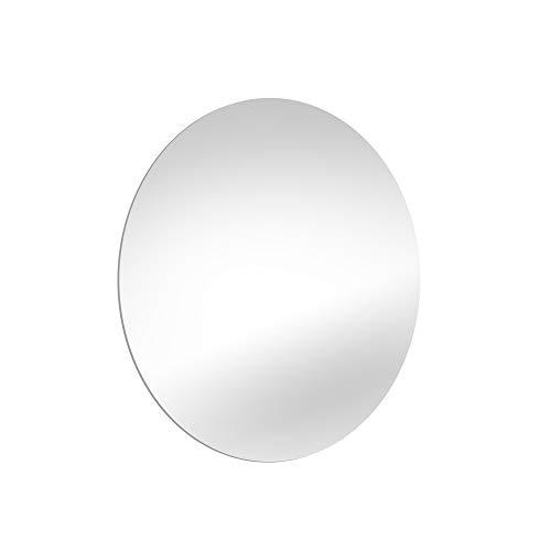 EMUCA - Espejo de baño con iluminación led Decorativa, Espejo retroiluminado Redondo, Espejo con luz indirecta integrada antivaho, Ø...