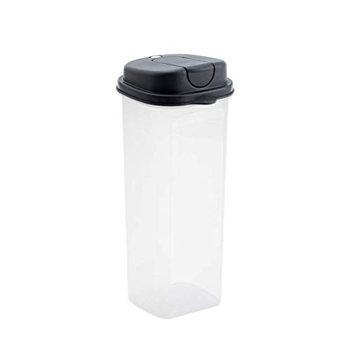 unknow 2L Vorratsdosen Getreidebehälter, Transparenter PP Kunststoff Lebensmittel Lagercontainer, Sealed Food Storage Box, Gebraucht Lebensmittel Trocken Und Sauber Zu Halten
