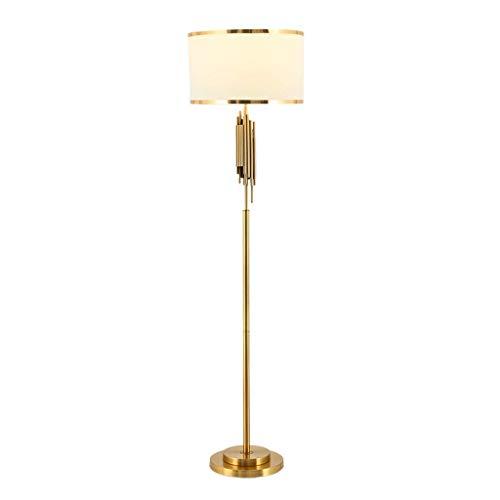XiYou Lámpara de pie de Metal - Luz de pie para Muebles Modernos Luces Decorativas Bronce Sala de Estar Dormitorio Sala de Estudio Luz de Piso Iluminación Interior de pie, Bronce
