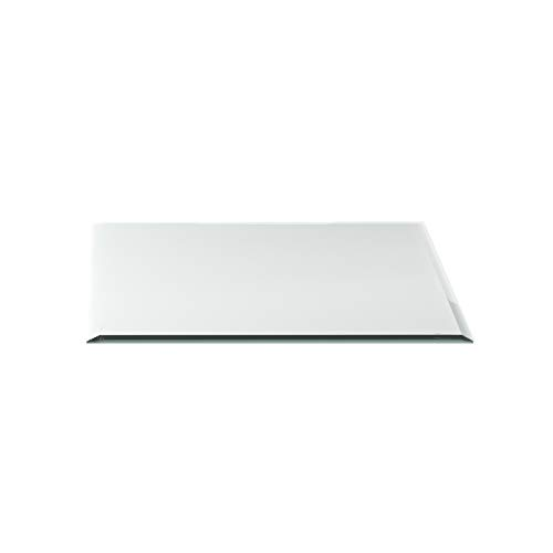 Funkenschutzplatte G15 Quadrat ESG 6mm x 1000mm x 1000mm mit 18mm Facette Glasplatte Bodenplatte Kaminplatte Funkenschutz Ofenplatte Kamingla