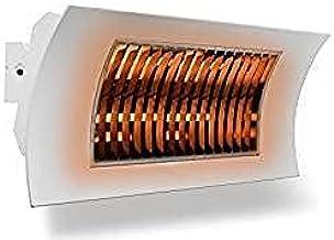 farho Radiador Infrarrojos Oasi KUARZO Blanco · Calefactor Infrarrojos para Exteriores con Elementos de Calor en Carbono IR B de bajo Resplandor · 1000 ó 2000 Watios
