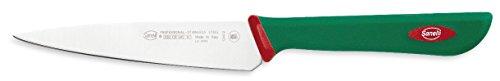Sanelli Premana Professional Coltello Spelucchino, Acciaio Inossidabile, Verde/Rosso, 12 cm