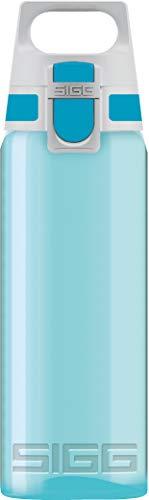 SIGG Total Color Aqua Botella cantimplora (0.6 L), botella hermética sin sustancias nocivas, botella resistente y ligera de plástico tritán