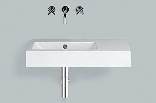 Alape Waschtisch WT.PR800.L Weiß, ohne Hahnloch