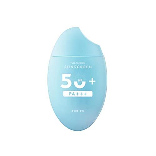 TBEONE Crema Solar Solar UV para la Cara, Crema Solar blanqueadora SPF50 + / PA +++, Crema Facial Ligera, Protector Solar Corporal, Crema hidratante para Todas Las Pieles