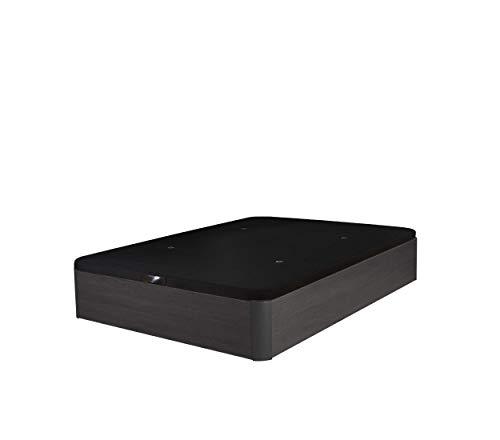 Cama Tapizada 3D Madera Deluxe Maxima Calidad Canapé de Lujo Garantía Canape abatible (150x190 30mm, Ceniza)