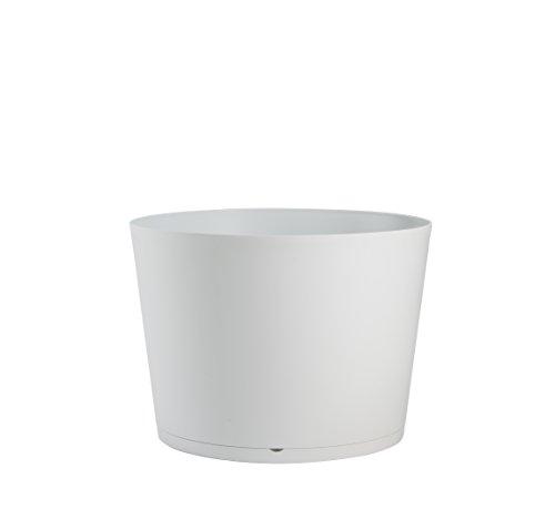 Grosfillex Pflanzgefäß, Tokyo Twinkonzept, weiß, 47,5 x 47,5 x 33,3 cm, 19341096