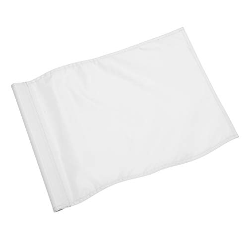 KINGTOP Solid Golf Flag with Plastic Insert, Putting Green Flags for Yard, Indoor/Outdoor, Garden Pin Flags, 420D Premium Nylon Flag, 13 L x 20 H, White
