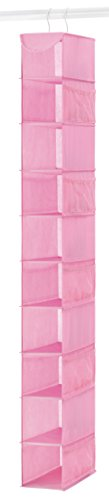 Whitmor 6636-1229-PINK Fashion Polypro Color Organizer Collection Hanging Shoe Shelves, Pink