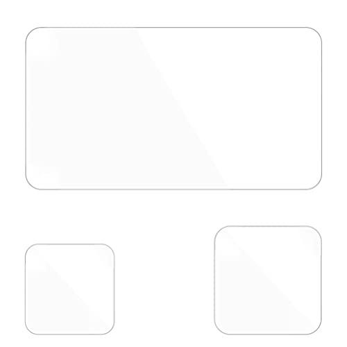 SOLUSTRE 3 Piezas Protector de Lente de Cámara de Vidrio Templado Película de Pantalla Compatible con Hero9