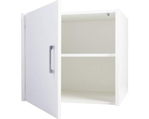 WASCHTURM - Schrankaufsatz - inkl. 1 Einlegeböden - Stabil - Farbe Weiß - 60,9 cm x 67 cm x 65,3 cm