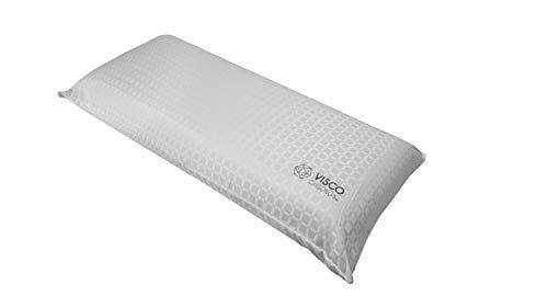 Kuo Dream – Almohada Visco Carbono | Viscoelástica con partículas de Carbono antiestrés | Firme 75 cm