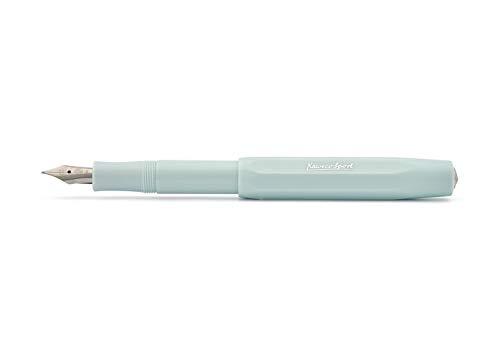 Kaweco Füllfederhalter Skyline Sport I Premium Füllfederhalter Luxus für Tintenpatronen mit hochwertiger Stahlfeder I Kaweco Sport Füller 13,5 cm Mint Federbreite: B (Breit)