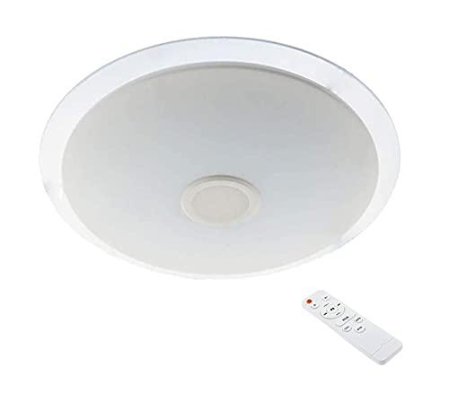 Plafon con altavoz LED 24W,Lámpara de Techo con Altavoz Bluetooth Ø410,APP + Mando a Distancia