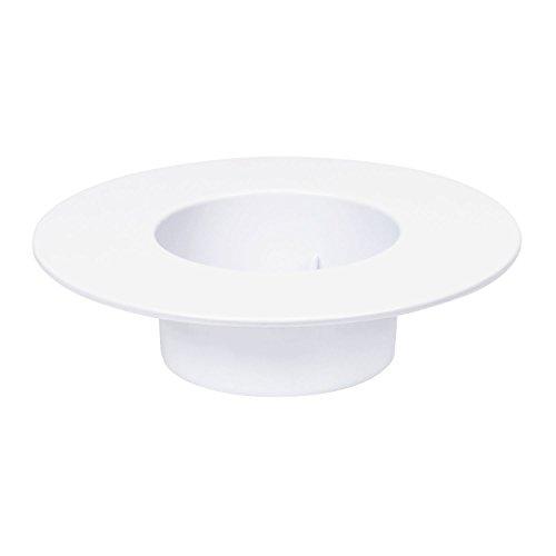 Ikebana Gefäss Basis Schale Vase Übertopf weiss rund Kunststoff H 5 cm D 19 cm