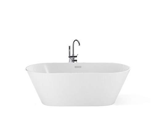 Moderne, freistehende Badewanne weiß Acryl oval 150 cm Havana
