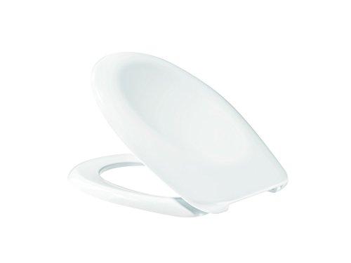 WC-Sitz derby basic für Stand-/Wand-WCs Edelstahlscharnier weiss VIGOUR