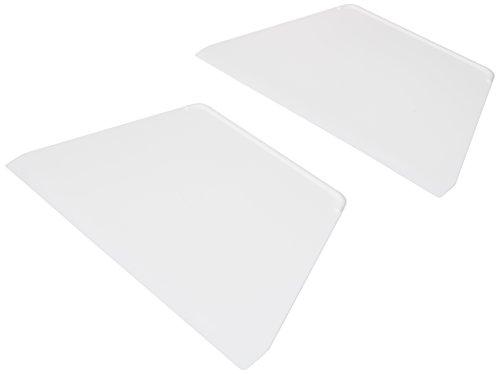 FMprofessional weiß 2 Teigschaber Trapez, Kunststoff, ca. 22cm, 2-Einheiten