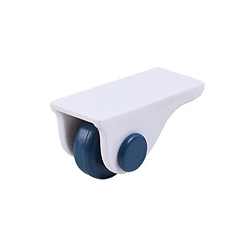 SCDMY 8pcs Caja de Almacenamiento fijado Direccional Buttom Ruedas Rodillo de Ruedas Organizador para el hogar Rack Ralling Wheel Trash Pulley Rueda Herramienta (Color : Blue)