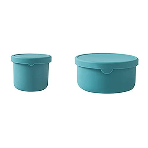 Tongliya 2 recipientes de almacenamiento para alimentos con tapa y junta, de plástico (PP), sin BPA, color verde menta