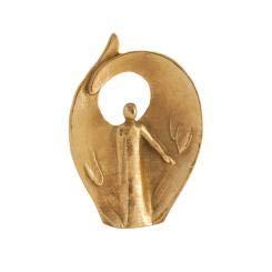 Herzmensch Engel des Vertrauens, des Weges, der Führung, des Neubeginns, 801381, Bronze handbearbeitet, 12 x 9 cm, Künstlerin: Andrea Zrenner