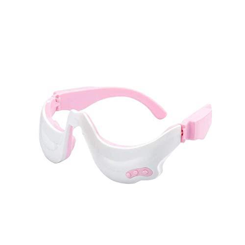 Katyma Masajeador de ojos con calefacción portátil para el cuidado de los ojos, dispositivo eléctrico antienvejecimiento, masaje de ojos con vibración para ojeras