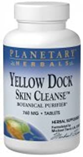Yellow Dock Skin Cleanse Planetary Herbals 120 Tabs