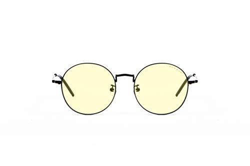 Gunnar Gaming- und Computerbrille | Ellipse, Onyx Rahmen, Amber Linse | Blue Light Blocking Glasses | Patentierte Linse, 65% Blaulicht- & 100% UV-Lichtschutz zur Verringerung der Augenbelastung