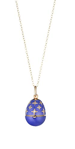 Tatiana Fabergé ROP07YLB - Collana da donna in argento sterling 925, con ciondolo con zirconi e smalto blu